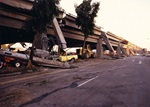 The Cypress Street Viaduct, part of Interstate 880, mostly collapsed between 16th Street and the MacArthur Maze in Oakland as a result of the Oct. 17, 1989, Loma Prieta earthquake. (All photographs are from Caltrans archives)