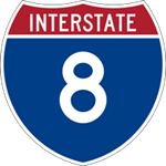 Interstate 8 icon