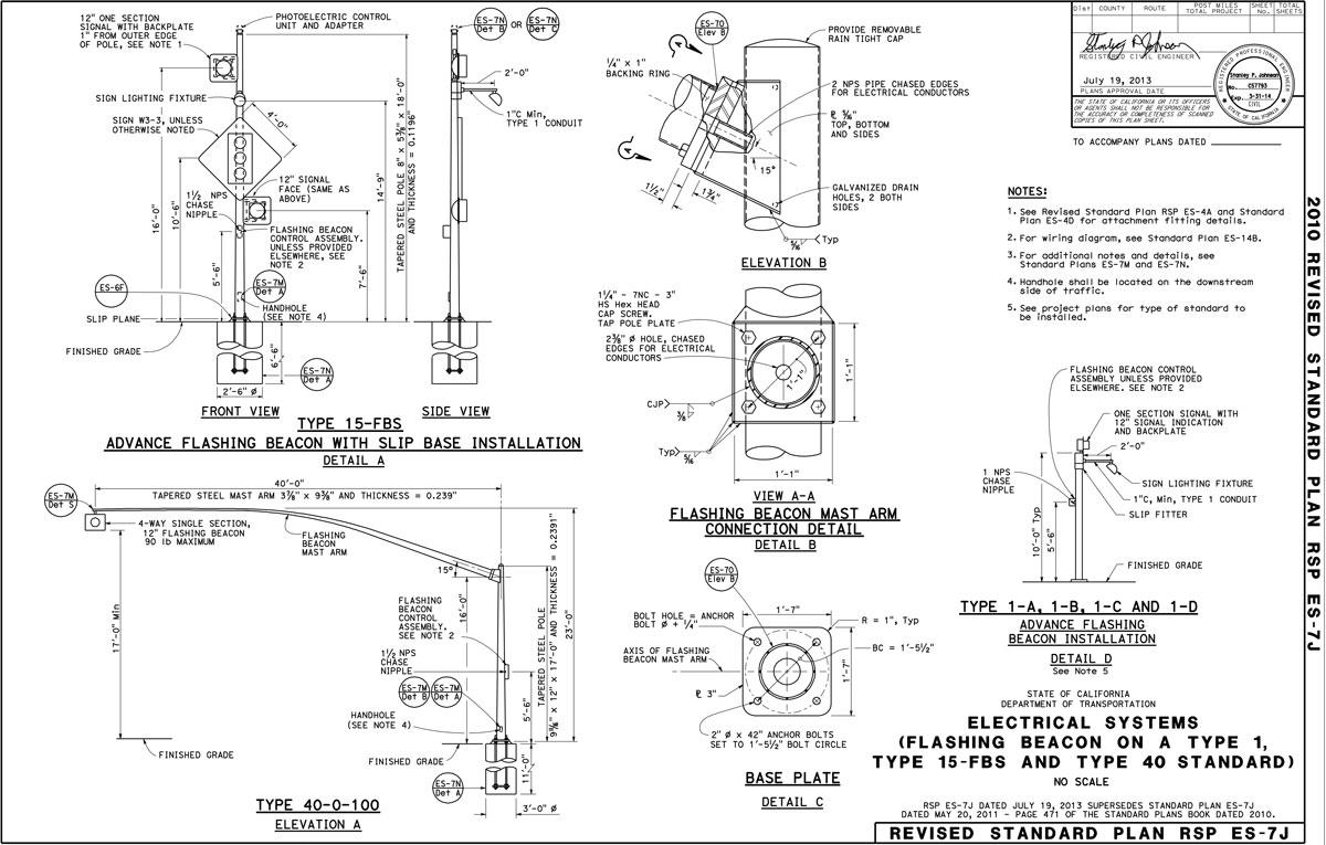 wiring diagram for led strip light appendix b 1     lighting standards caltrans  appendix b 1     lighting standards caltrans