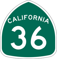 Highway 36 Sign