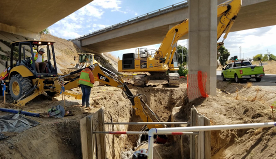 Excavation and Removal of Existing Drain Pipe for Relocation at Freeport Boulevard