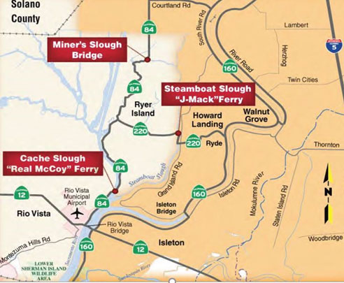 J Mack Real McCoy Ferry Map