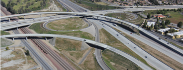 I-210 Transition for I-215 Arial View