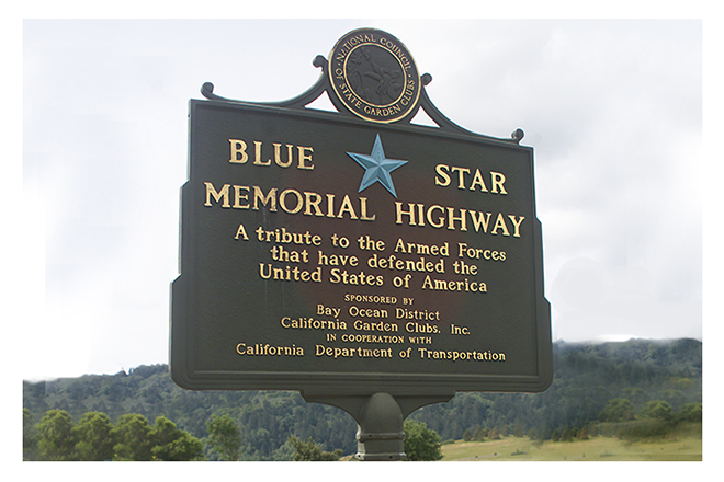 Sign for the Blue Star Memorial Highway
