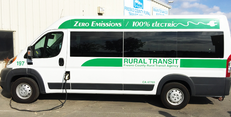 Photo of the Zero-Emission Rural Transit van.