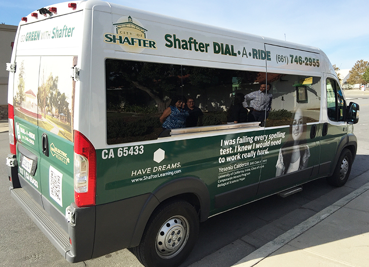 Photo of the Shafter Dial-A-Ride van.