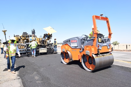 Repaving with recycled asphalt pavement and liquid plastic made with single-use, plastic bottles
