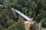 The new Pfeiffer Canyon Bridge on State Route 1 in Monterey County that replaced the original bridge after it was damaged in a landslide during 2017's record storms.