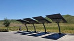 solar-powered electric vehicle stations at Camp Roberts and Shandon Rest Areas